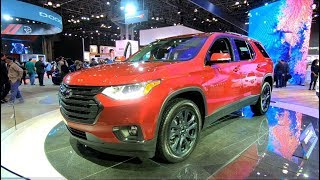 CHEVROLET TRAVERSE RS RED COLOUR ALL NEW MODEL 2018 WALKAROUND