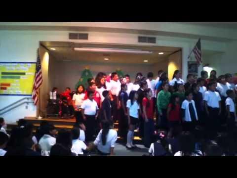Pio pico elementary school of Santa Ana fifth graders quoire