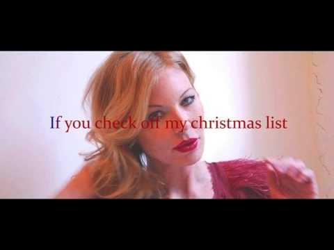 Cynthia Basinet Santa Baby Karaoke Lyrics (Marilyn Monroe Version)