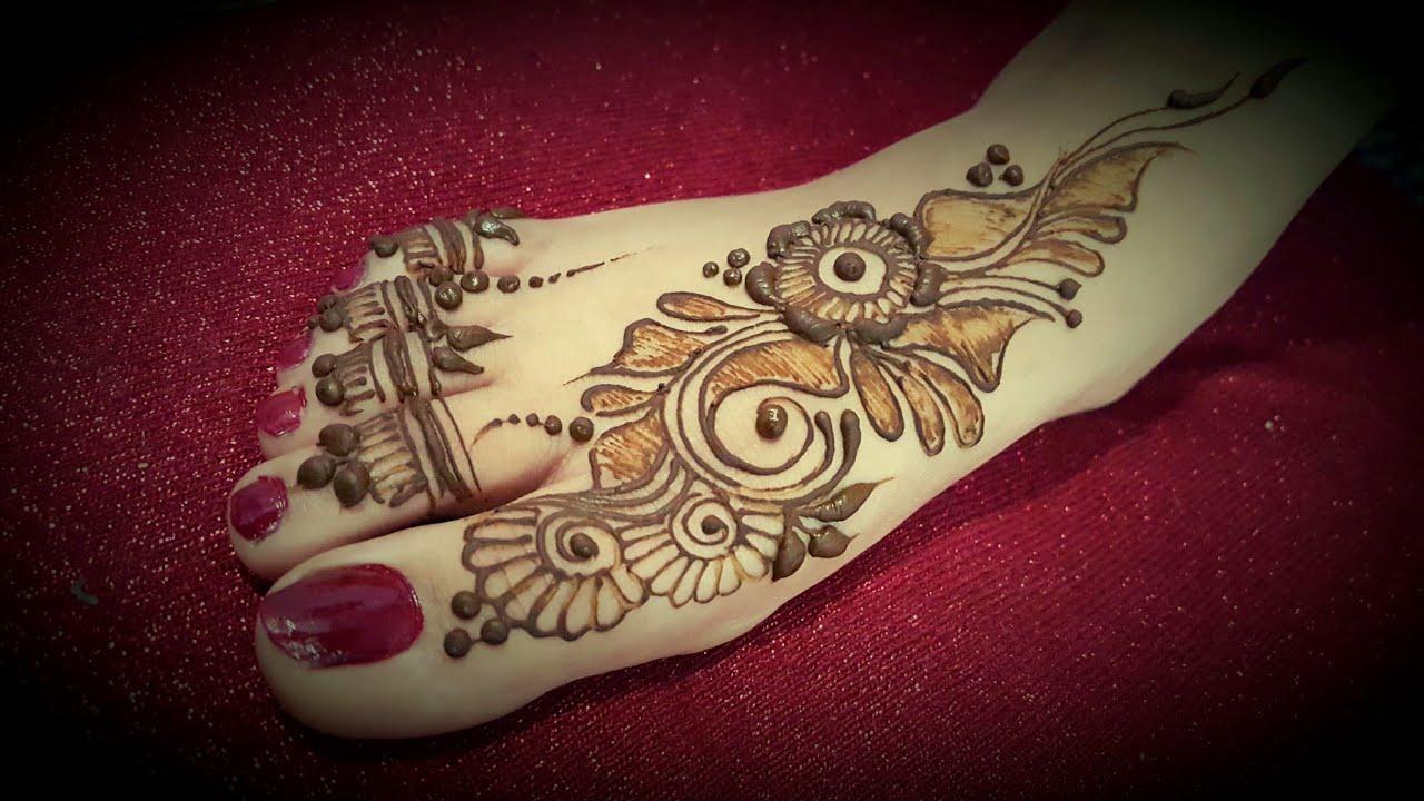 Beautiful Foot or leg Mehndi Design 2017
