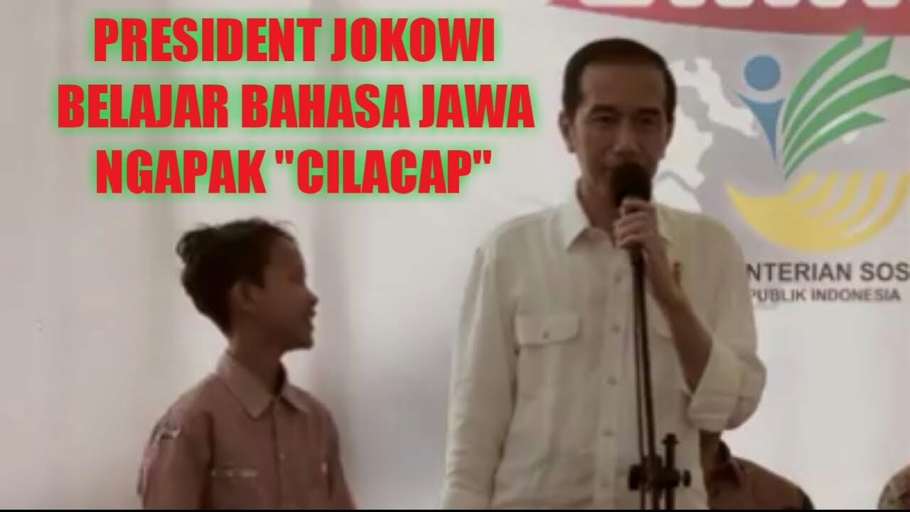 "Lucu President Jokowi Belajar Bahasa Jawa Ngapak ""cilacap"
