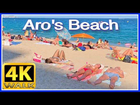 【4K】WALK Platja D'Aro Beach COSTA BRAVA - Bikini Time -  Girona SPAIN