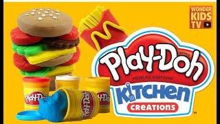 말랑말랑 도우랑. 플레이도우로 햄버거 만들기. play doh. toy. Play Doh Cookout Creations