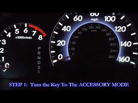 Honda Odyssey Maintenance Light Reset DIY 'How To'