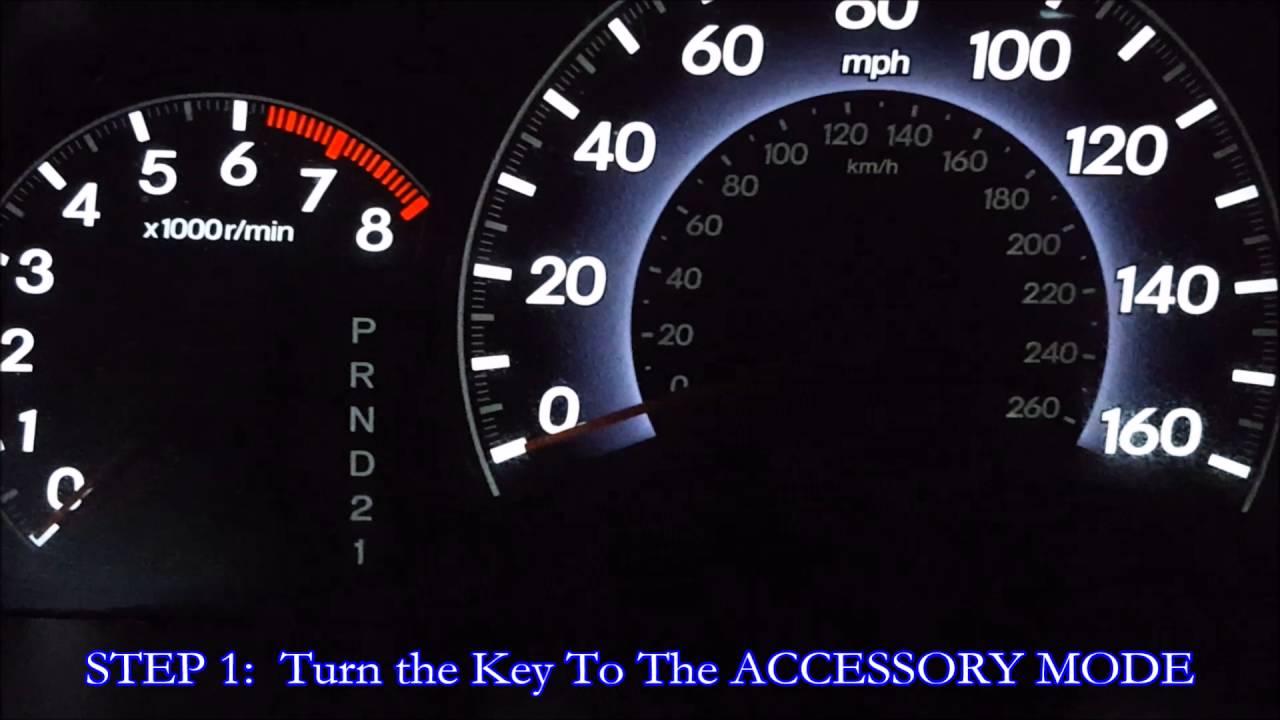 Honda Odyssey Maintenance Light Reset Diy How To