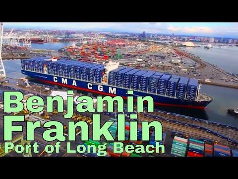 CMA CGM Benjamin Franklin Arrives At Port Of Long Beach