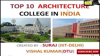 Top 10 B Arch colleges in India - Fees | Seats | College Type of Top Architecture College