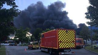 Isère. violent incendie dans les locaux d'Hager Security a Crolles