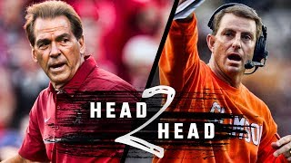 Head to Head: Alabama vs. Clemson