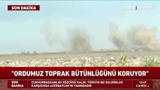 Azerbaycan-Ermenistan Sınırında Patlama Anları Kamerada