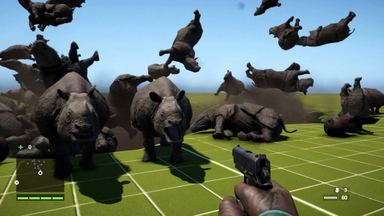 how to kill the rhinos in farcry 4