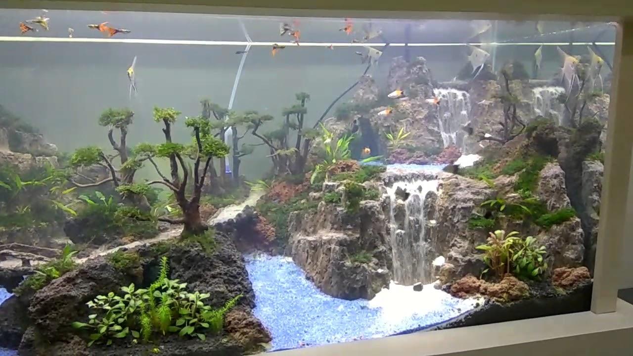 Khenzo Aquascape Triple Waterfall Youtube