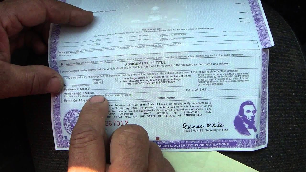 Where to Sign Car Title Illinois