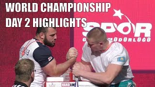 World Arm Wrestling Championship 2018 (DAY 2 RIGHT HAND HIGHLIGHTS PART 2)