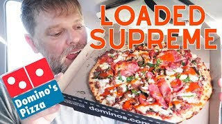 Domino's Loaded Supreme Pizza Food Review - Greg's Kitchen