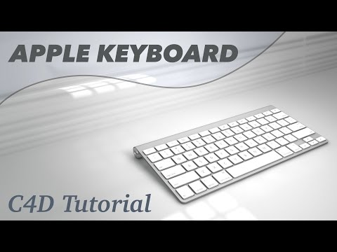Apple Keyboard Tutorial Cinema 4D Modelling 3D for C4D A1314