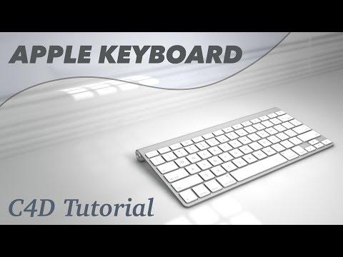 Apple Keyboard Tutorial Cinema 4D Modelling 3D for C4D A1314