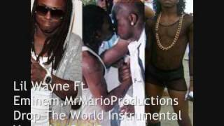Lil Wayne - Official Drop The World Instrumental WITH HOOK also With No Hook