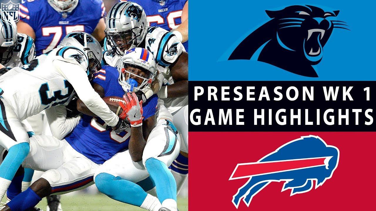 Panthers vs. Bills Highlights   NFL 2018 Preseason Week 1