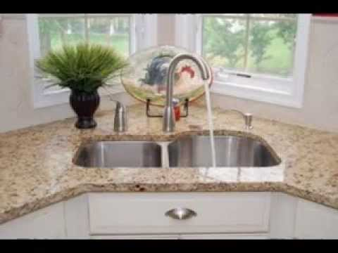 Corner kitchen sinks design decorating ideas - YouTube
