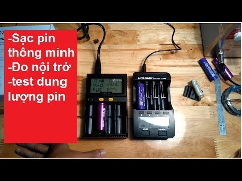 Bộ sạc pin thông minh Liitokala và Miboxer C4