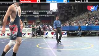 Fargo 2012 220 Round 1: Tony Reurink (Minnesota) vs. Brian Moran (Michigan)