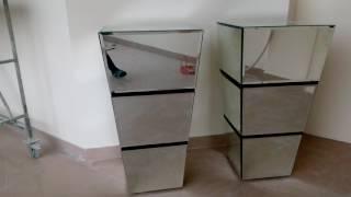 Зеркальные тумбы своими руками
