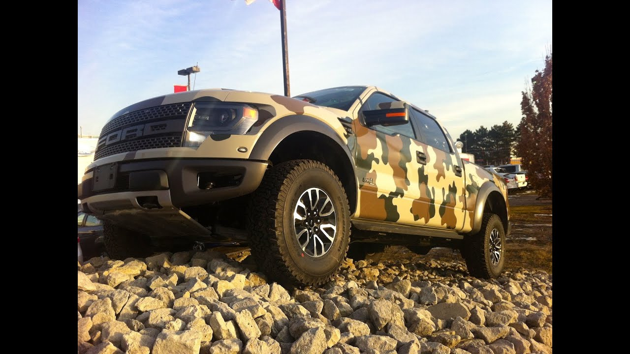 Camo 2013 F150 Svt Raptor Youtube