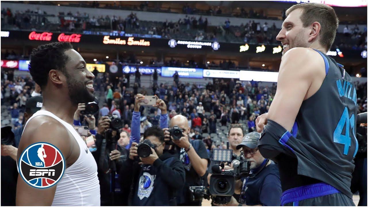 Dwyane Wade, Dirk Nowitzki and Luka Doncic shine in Mavericks' loss vs. Heat | NBA Highlights