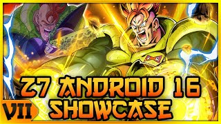 THE BEST TANK IN THE GAME! ZENKAI 7 ANDROID 16 SHOWCASE! | Dragon Ball Legends PvP