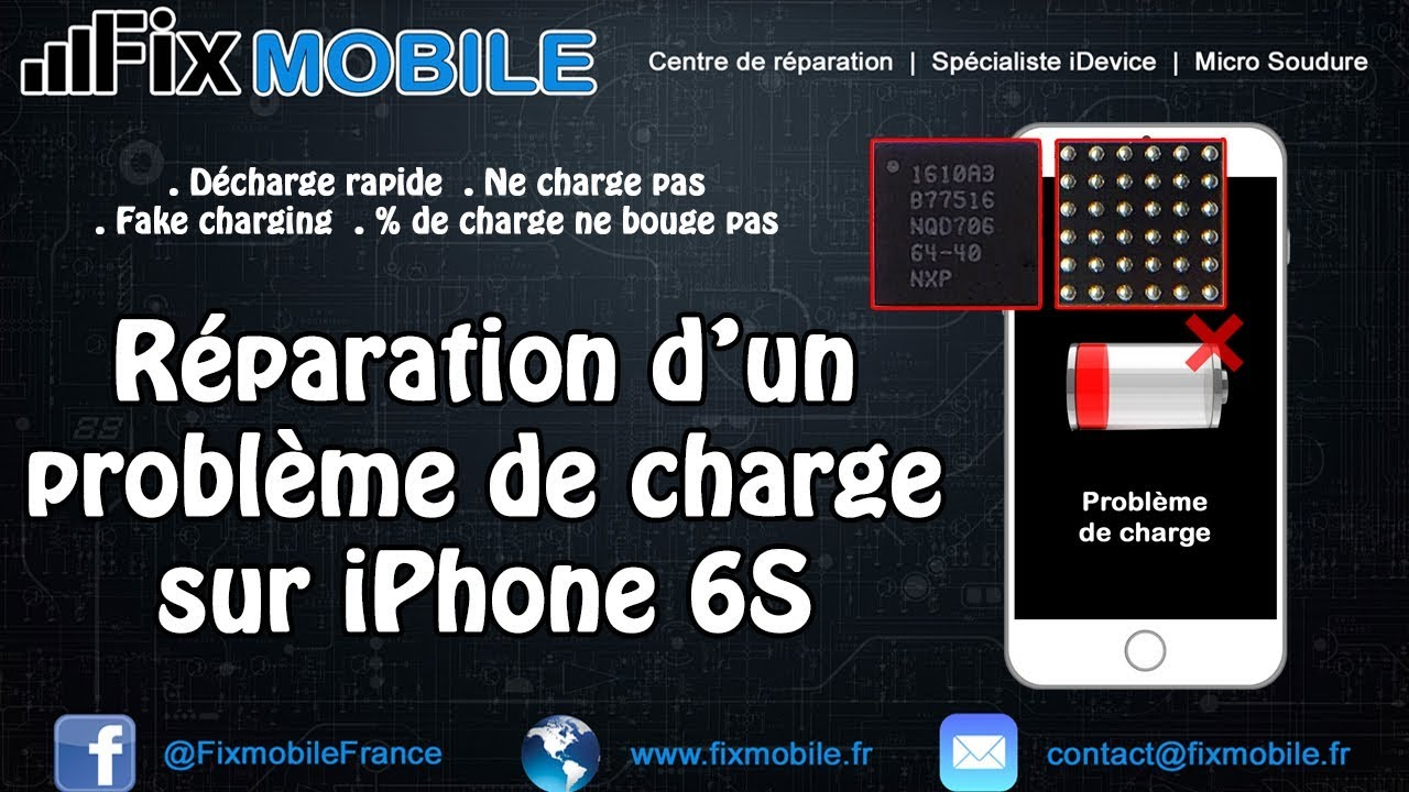 Reparation Carte Mere Iphone Ne Charge Plus Probleme De Batterie U2 Tristar IPhone 6S