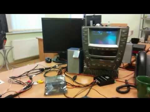 Настройка навигационного блока CS9320 и GVIF интерфейса