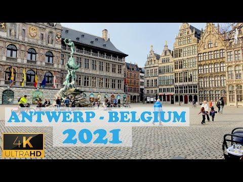 🇧🇪 Antwerp - Belgium Walking Tour 2021 - 4K (60fps)