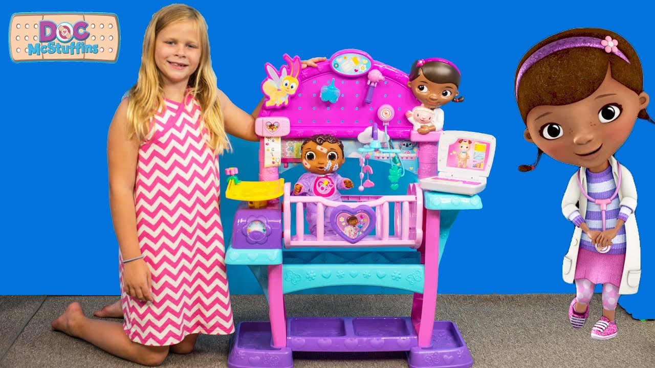 The Assistant Unboxes Doc Mcstuffins All In One Baby