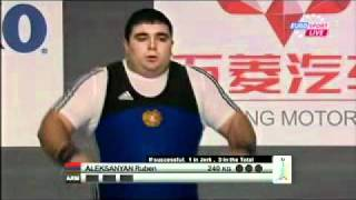 2011 Paris World Weightlifting Championships +105 Kg Clean and Jerk.avi