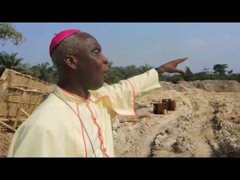 An illegal gold mining site near Obuasi, Ghana