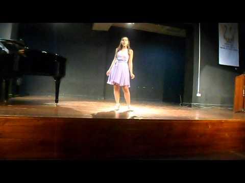 RECITAL DE CANTO LIRICO EN EL CONSERVATORIO NACIONAL DE MUSICA PERU - ALEXA BENZAQUEN