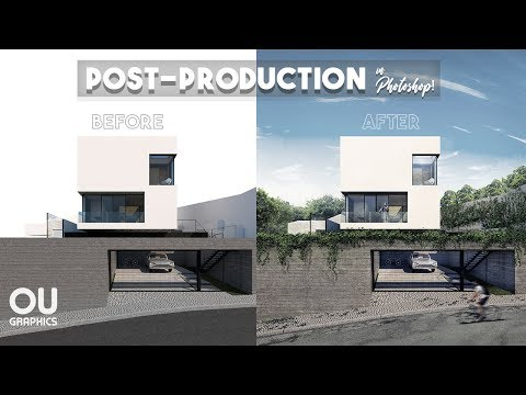 Exterior Architecture Post-production in Photoshop