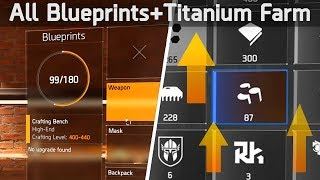 How to get EVERY Weapon Mod BLUEPRINT + Best Titanium Farm | The Division 2