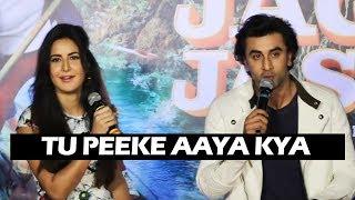Katrina Kaif INSULTS Ranbir Kapoor - Tu Peeke Aaya Kya - Galti Se Mistake Song Launch | Jagga Jasoos