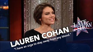 Lauren Cohan Can't Stand The Sight Of Blood thumbnail