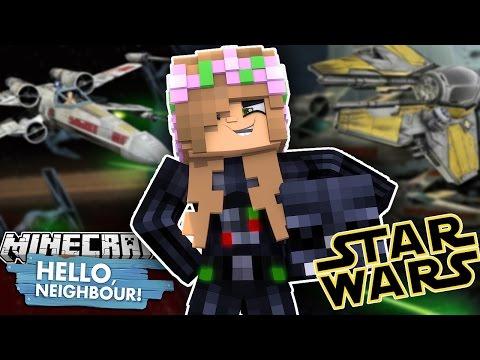 LITTLE KELLY GOES TO THE DARK SIDE | Darth Vader | Minecraft Star Wars Hello Neighbour