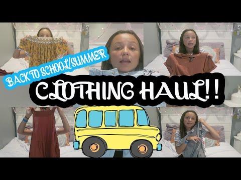 👗BIG SUMMER/BACK TO SCHOOL CLOTHING HAUL! 🎒
