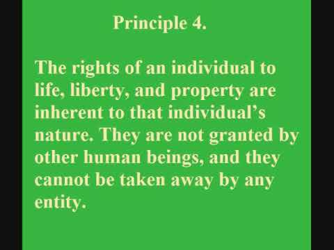 Ten Principles of Classical Liberalism