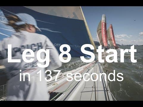 Leg 8 Start ...in 137 seconds | Volvo Ocean Race