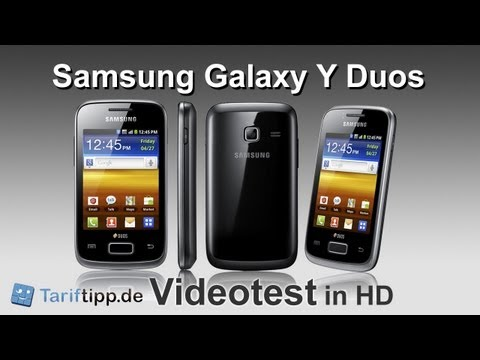 Samsung Galaxy y DUOS | Handytest in HD (deutsch) Video