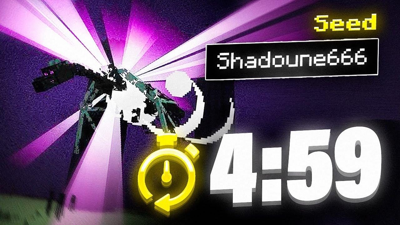"Termina Minecraft en menos de 5 minutos!! Speedrun de la Seed ""Shadoune666"""