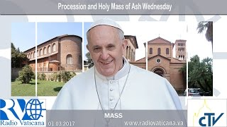01.03.2017 Procession et Messe du Mercredi des Cendres