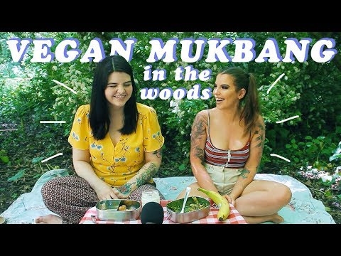 Mukbang in the Forest ~ Vegan Nuggets, Fitness & Dinosaur Weddings