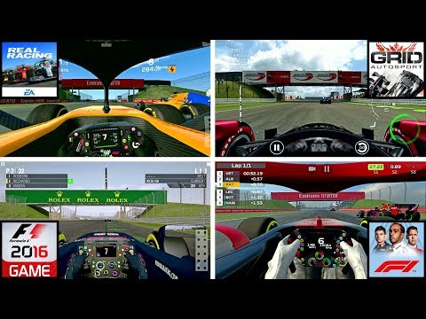 Real Racing 3 Vs Grid Autosport Vs F1 2016 Vs F1 Mobile Racing @ Silverstone
